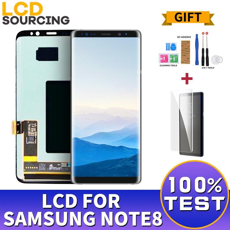 "6,3 ""AMOLED para SAMSUNG GALAXY Note 8 pantalla LCD N9500 N950FD MONTAJE DE digitalizador de pantalla táctil para Samsung Note 8 LCD reemplazar"