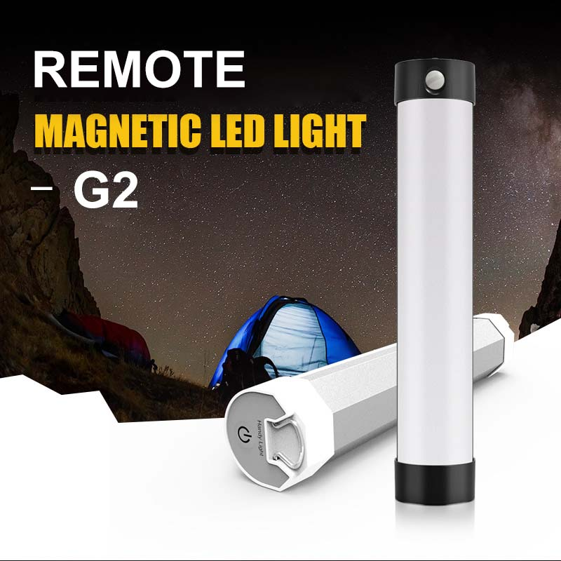 Linterna magnética fuerte para Camping, luz Bivvy para pesca, luz de Camping con Control remoto IR, luz recargable por USB, luz LED portátil para tienda
