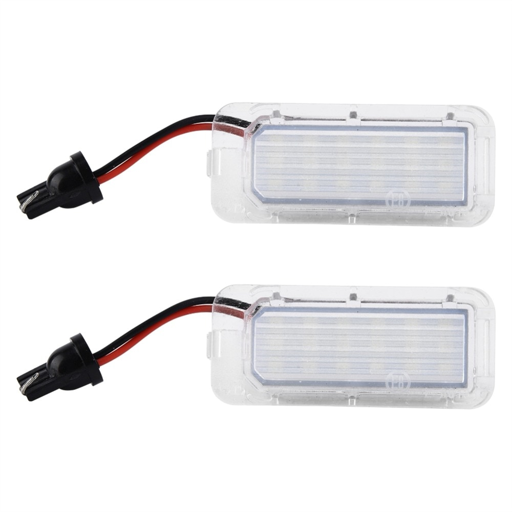 2 uds ABS LP07003 coche 3528 18-SMD luz LED de matrícula lámpara para Ford Focus MK2. Facelift Fiesta MK6 Mondeo MK4