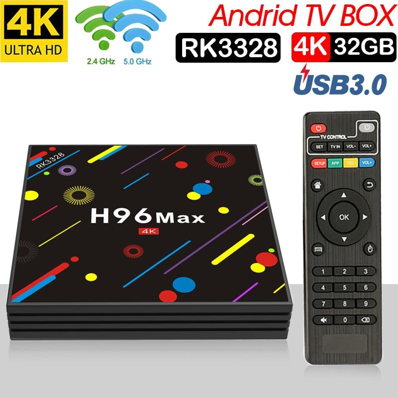 H96 MAX Plus TV caja Android 7,1 4 gb 32 gb receptor inteligente RK3328 Quad core 5g Wifi 4 k H.265 reproductor de medios pk x96max t95q