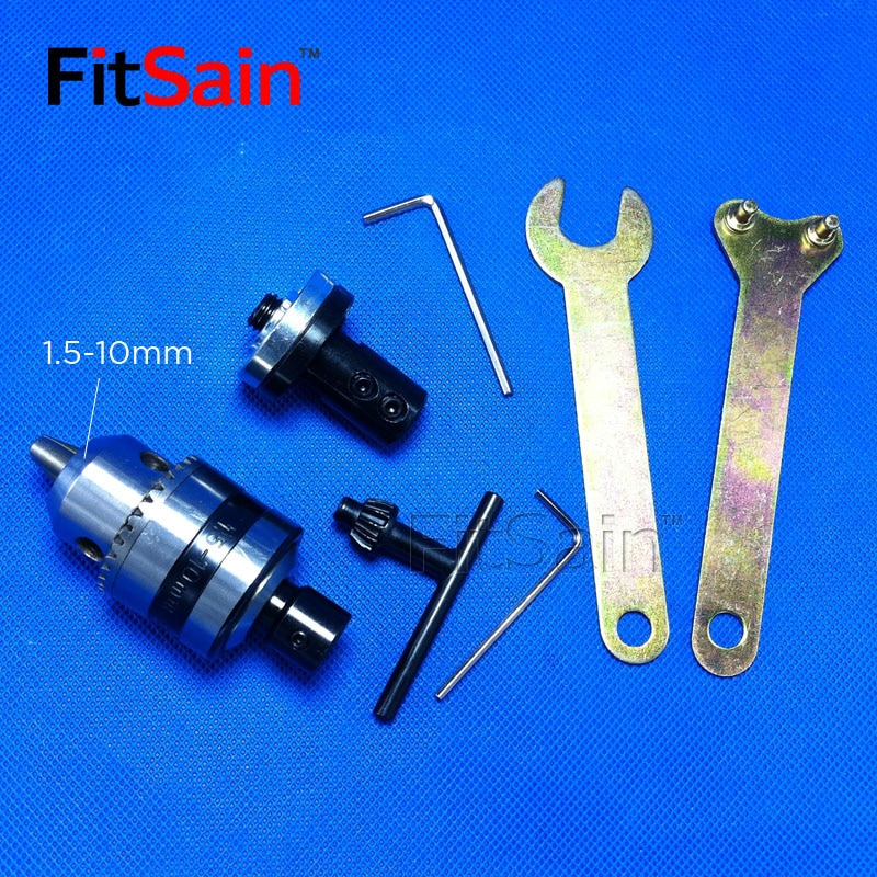 FitSain-eje del Motor 5/6/8/10/12/14mm, biela B12, mandril de taladro 1,5-10mm, buje de hoja de sierra, taladro eléctrico variable