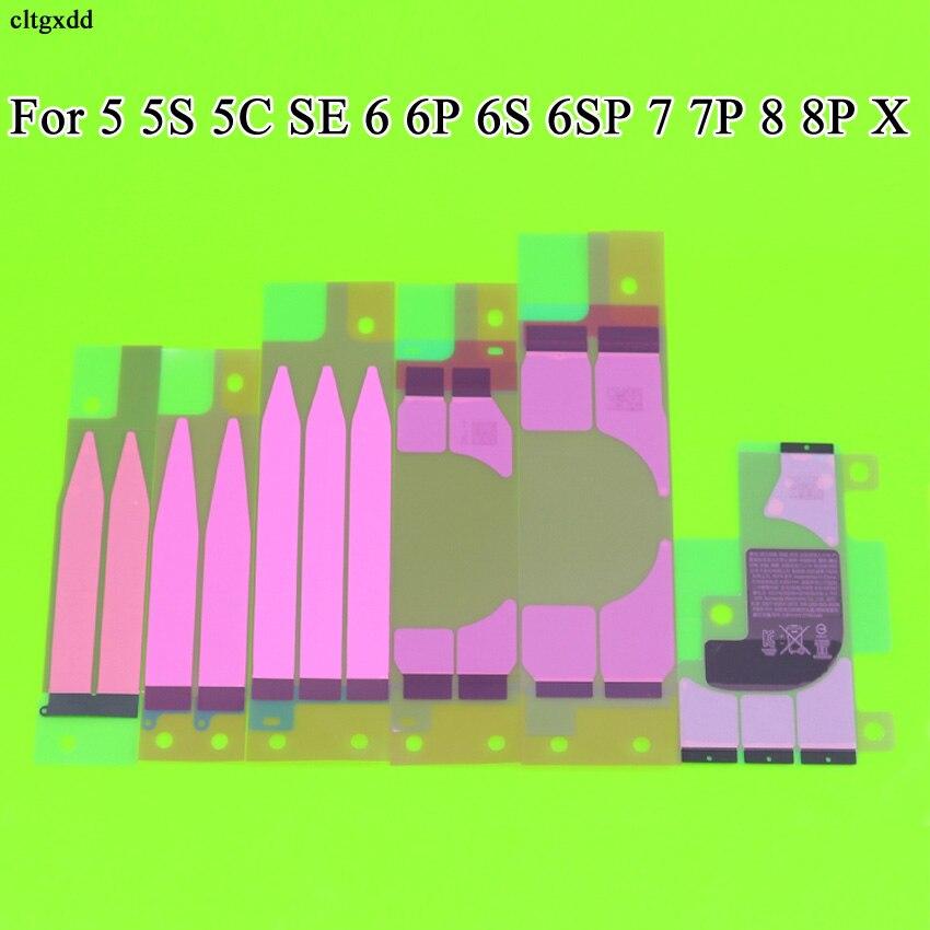 Cltgxdd 10 piezas de batería adhesivo pegatina para iPhone X 5S 5c 6 6 s 7 7 plus cinta pegamento de Tab parte de reemplazo