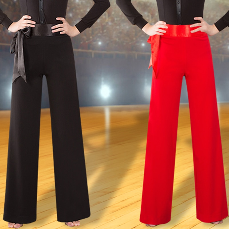 Latin Ballroom Dance Pants Women Cha Cha Rumba Samba Tango Salsa Flamengo Trousers Ladies Practice Show Wear Clothes DNV11763