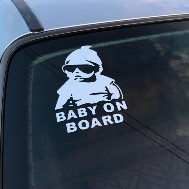 14*9 cm bebé coche fresco reflectante Pegatinas de advertencia para Peugeot 206, 207, 208, 301, 307, 308, 407, 2008, 3008, 4008
