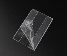 7.5*5cm 50 pcs acrylic Supermarket shelf adhesive price label holder sticky flat tag sign ticket holder frame