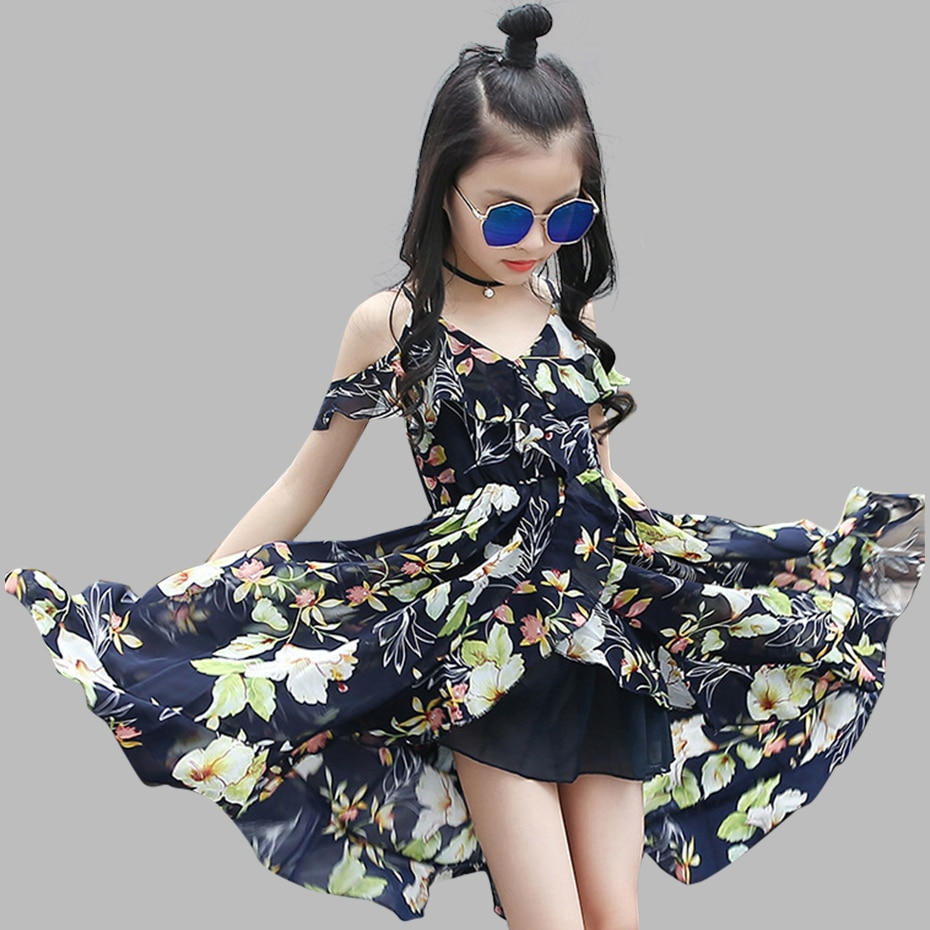 Sukienki dla dziewczynek w stylu boho sukienki dla dziewczynek bez rękawów sukienka kwiatowa dla nastolatków 8 10 12 duże dzieci ubrania dla dziewczynek