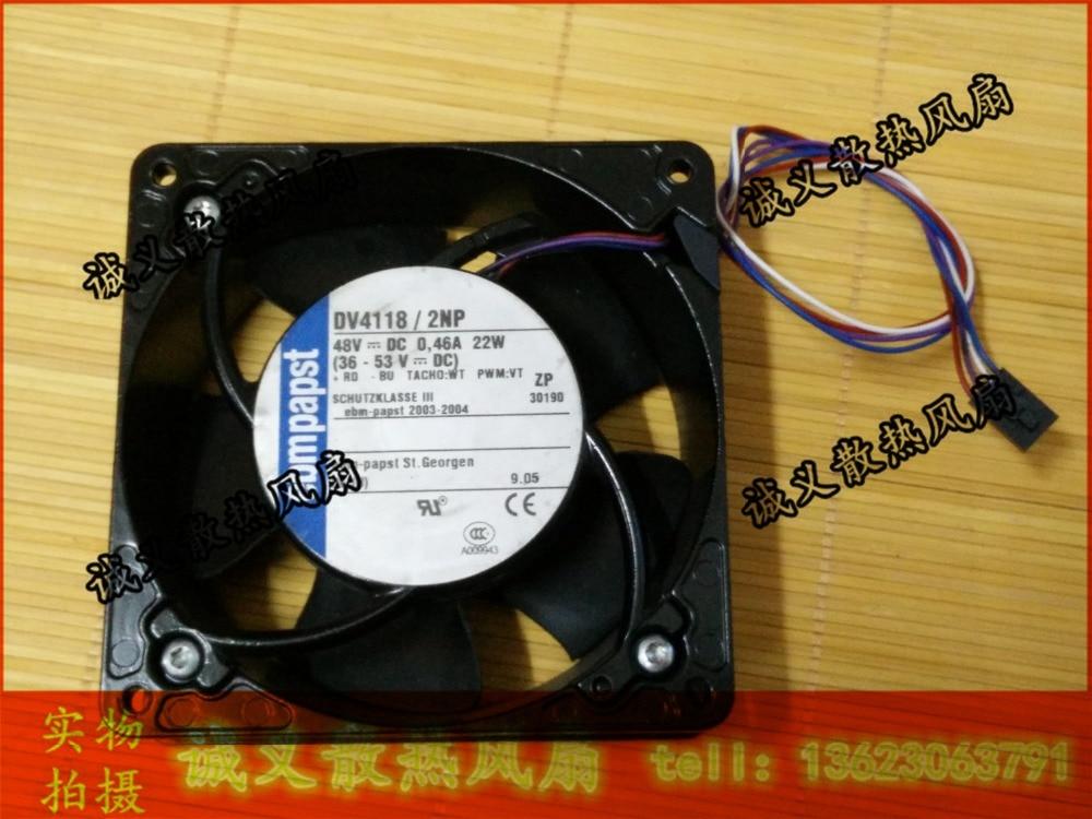 Ebmpapst 12038 48V 0.44A 22w DV4118/2NP PWM IP54 ventilador de refrigeración impermeable