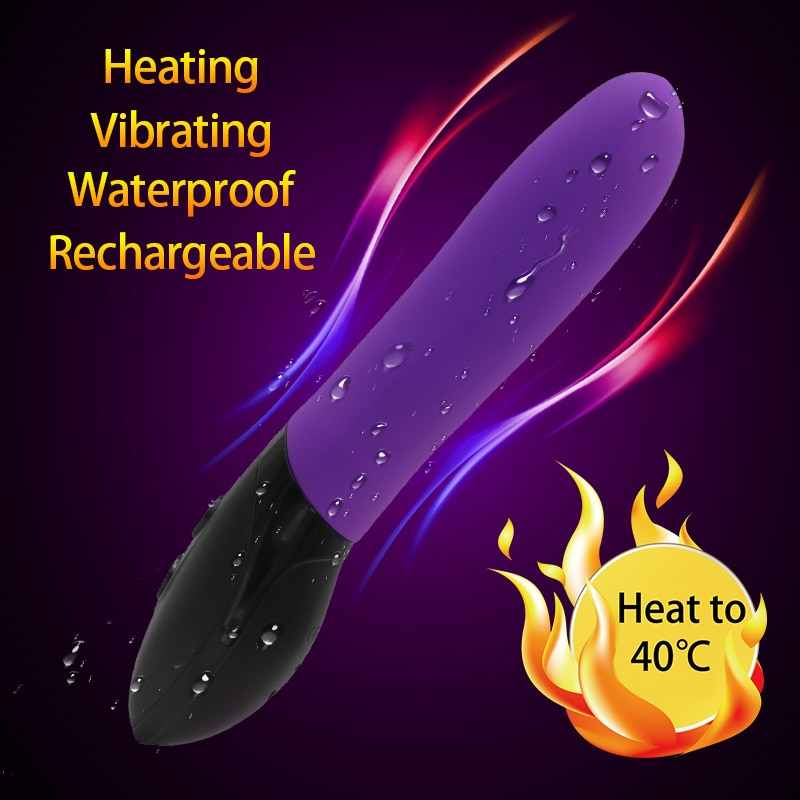 YEMA Heatable 7 Modes Magic Wand Vibrator Sex Toys for Woman Waterproof Dildo Vibrator Av G Spot Vibrators Adult Sex Shop
