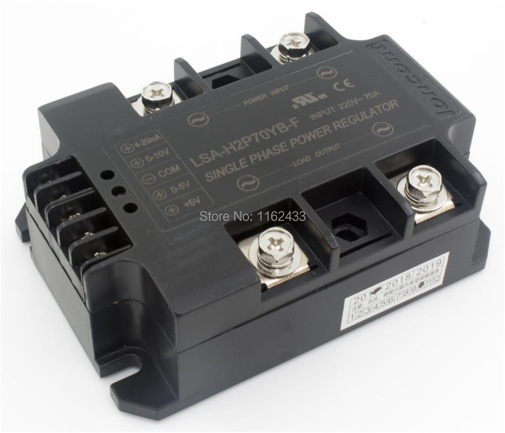 LSA-H2P70YB-F مرحلة واحدة AC 70A 220V حلقة مغلقة ردود فعل سلبية الحالة الصلبة الجهد المنظم/الطاقة منظم وحدة