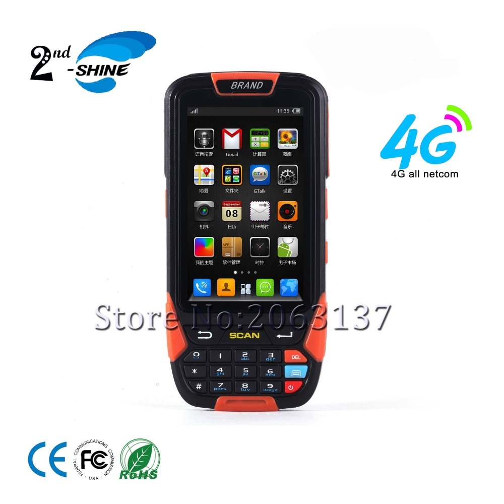 Le meilleur Scanner industriel rocailleux de lecteur du Terminal 1d de PDA avec la carte SIM de WiFi 4G
