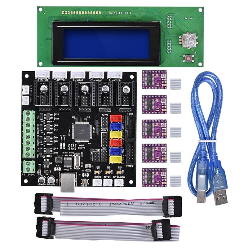 BIQU nueva impresora LCD 3D Reprap controlador inteligente rampas Reprap 1,4 2004 LCD Control Compatible con MKS GEN V1.4 Tablero de control