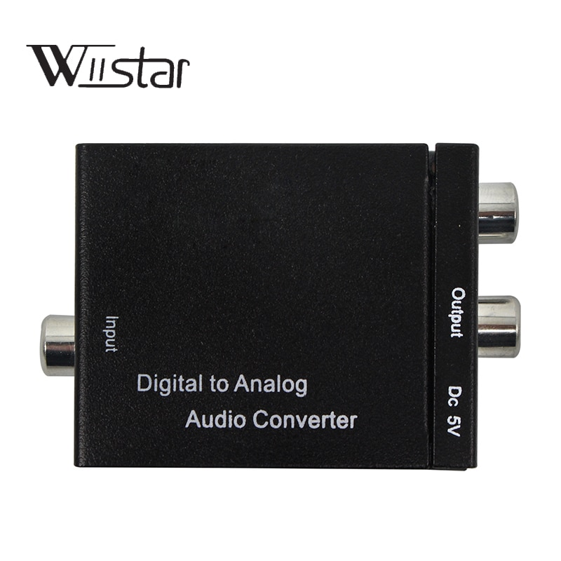 Adaptador convertidor Digital a de Audio analógico Adaptador Digital óptico Coaxial RCA...
