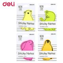 Deli kawaii hayvan şekil not defteri ofis okul kırtasiye kaynağı sevimli kağıt yapışkan not post it güzel etiket not defteri hediye