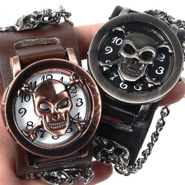Erkek kol saati relogio masculino мужские часы с черепом раскладушка креативные наручные часы Мужские часы модные мужские часы с браслетом часы