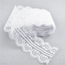 Ruban double dentelle blanche 10yards   Ruban brodé en cœur 45MM, ruban en dentelle blanche pour toutes sortes de fête