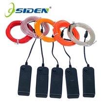 Lumière au néon 3 V, Tube de câble en fil métallique Flexible pour la fête, 1 m, 3 m/5 pour les décorations dans les vêtements de voiture + contrôleur
