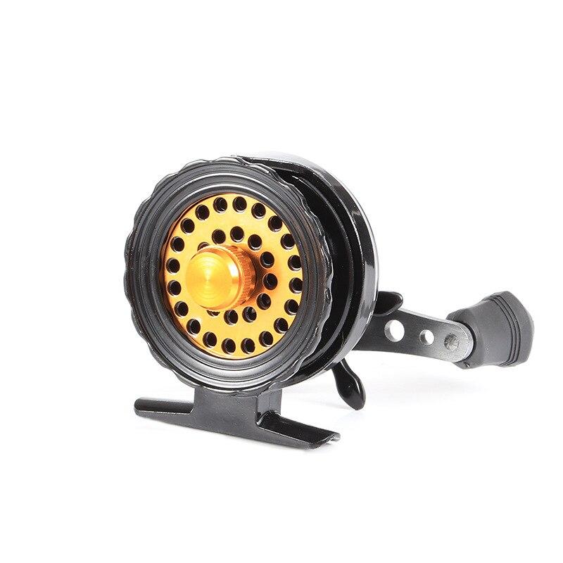 Heiße Verkäufe Voll Metall Aluminium Ultra-light Ehemaligen Eis Rad Fly Fishing Reel Rechts Linkshänder Angelgerät