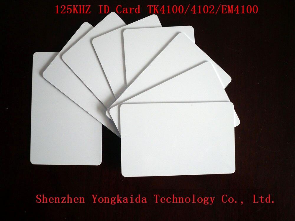 10000 unids/lote 125khz RFID tarjeta de identificación en blanco TK4100 EM4100 de tarjeta de identificación