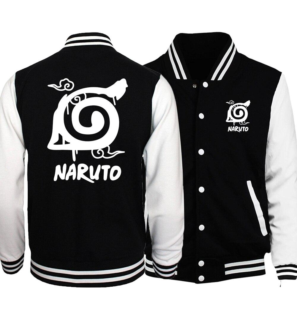 Мужская куртка с капюшоном Naruto Uzumaki Naruto, куртка-бомбер с мультипликационным принтом, мужская спортивная одежда, осень 2019