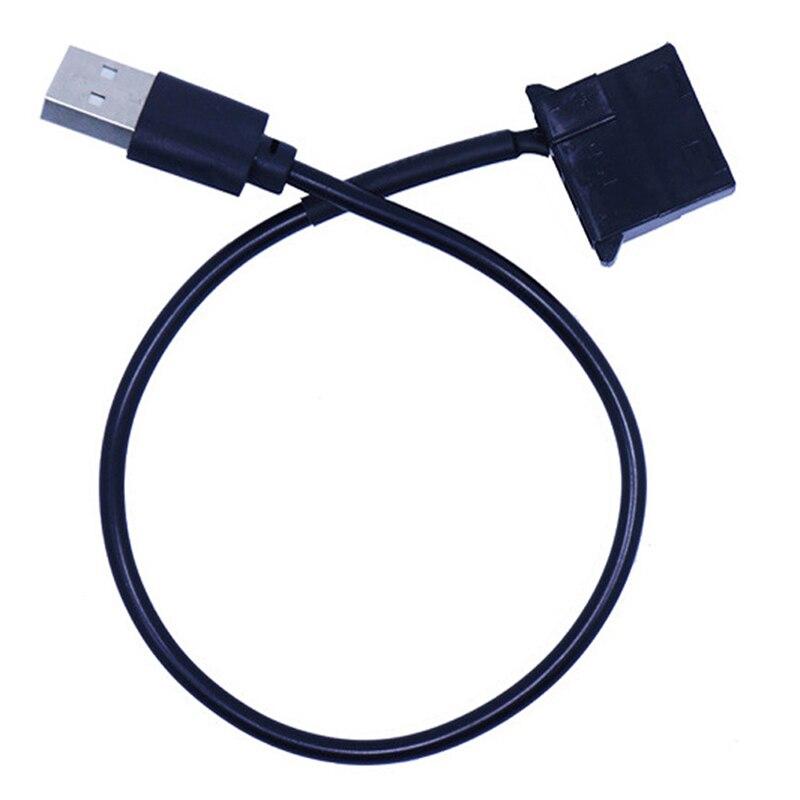 4Pin hembra a 5V USB macho a USB adaptador de Cable USB a Molex de 4 pines Cable de alimentación para ventilador caja de la computadora adaptador de Cable