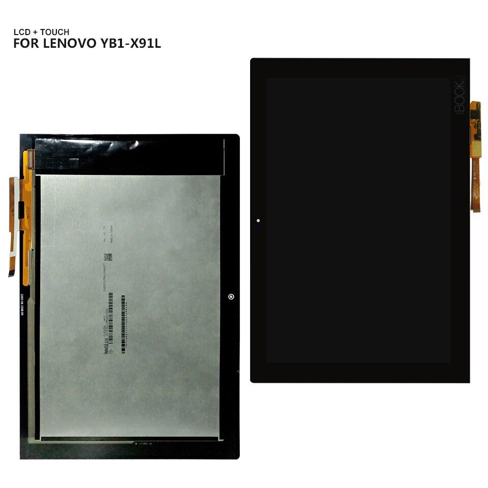 10,1 para Lenovo Yoga libro YB1-X91 YB1-X91L YB1-X91F pantalla LCD Panel de pantalla táctil de cristal digitalizador Asamblea herramientas libres