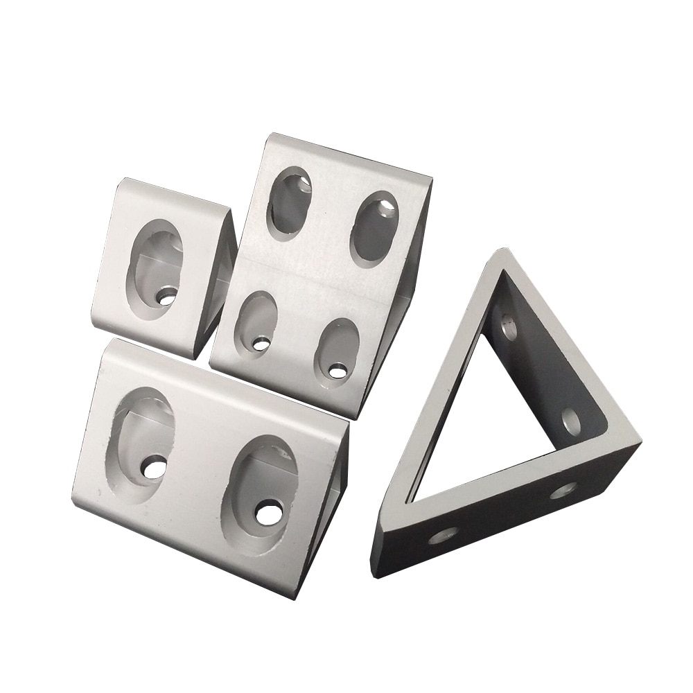 Soporte de esquina interior Gueest Conexión de ángulo de 90 grados para perfil de aluminio 3030/4040/4545/6060/8080/9090/100100