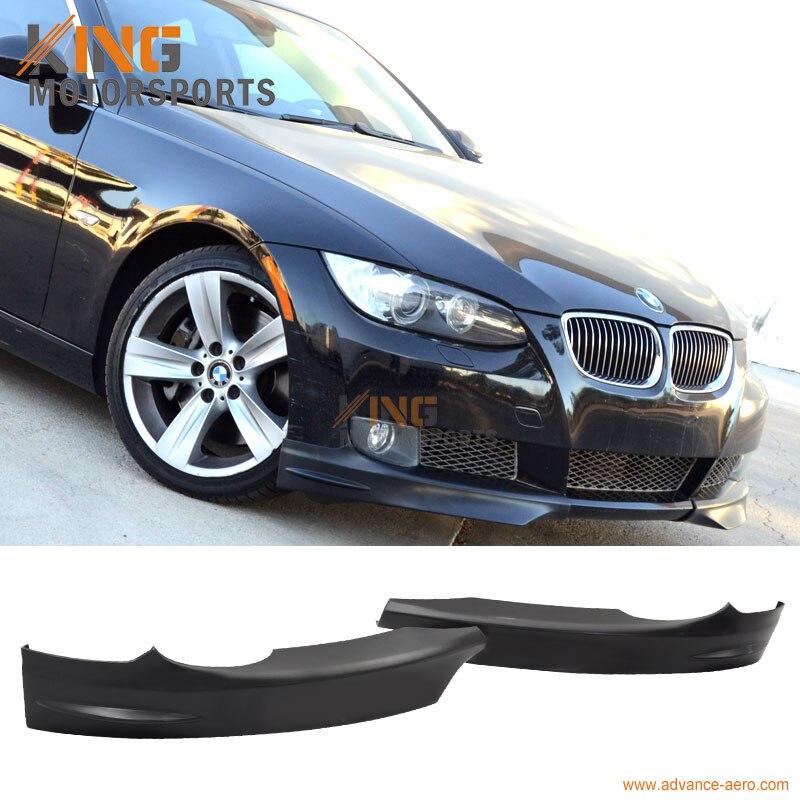 Fits 07-10 08 09 BMW E92 E93 3 Series 328I 335I Pré LCI Modelos M-Tech Frente choques Lip Divisores PP