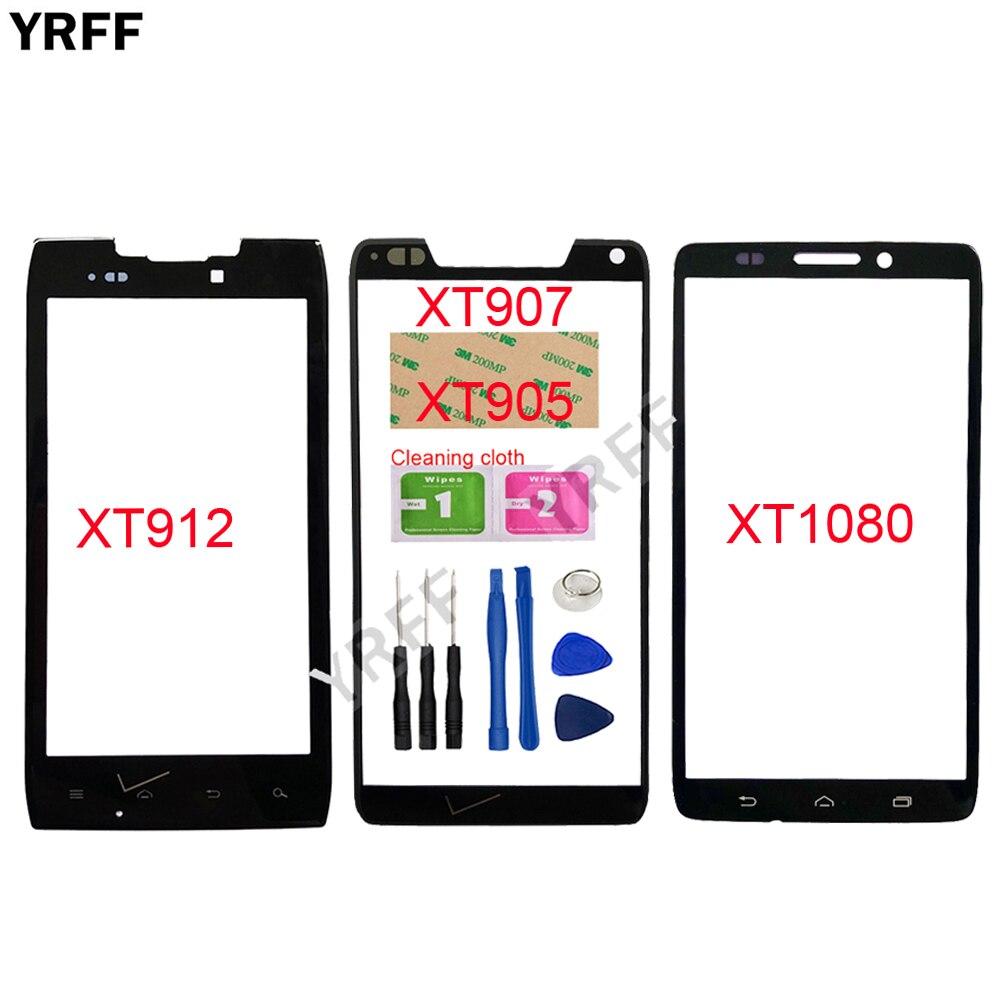 Cristal exterior para pantalla táctil móvil Motorola Moto XT1080 para Motorola Moto XT907 XT905 XT912 XT910 reemplazo de panel de vidrio frontal