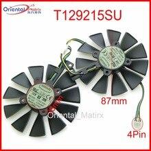 Freies Verschiffen T129215SU 12V 0.5A 87mm VGA Fan Für ASUS GTX1060 GTX1070 RX480 RX570 Grafikkarte Lüfter