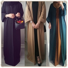 2019 Abaya Dubai vestido musulmán kimono kaftan Bangladesh Robe musulmán ropa islámica caftán marroquí turco UAE Eid parte de regalo