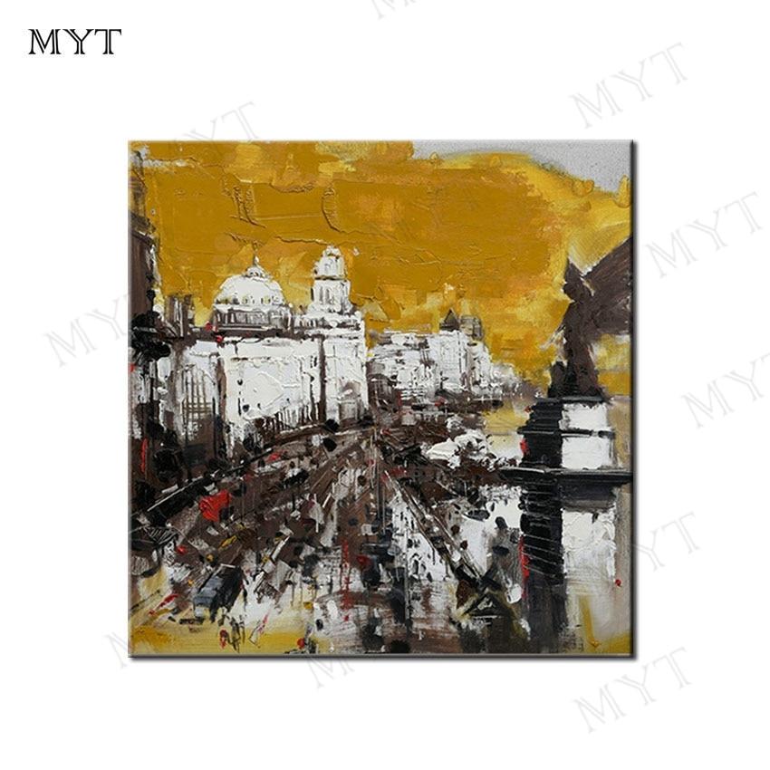 MYT sin enmarcar envío gratis Venta caliente hecho a mano arte de pared moderno pintura al óleo lienzo hogar pared decoración para la decoración de la habitación