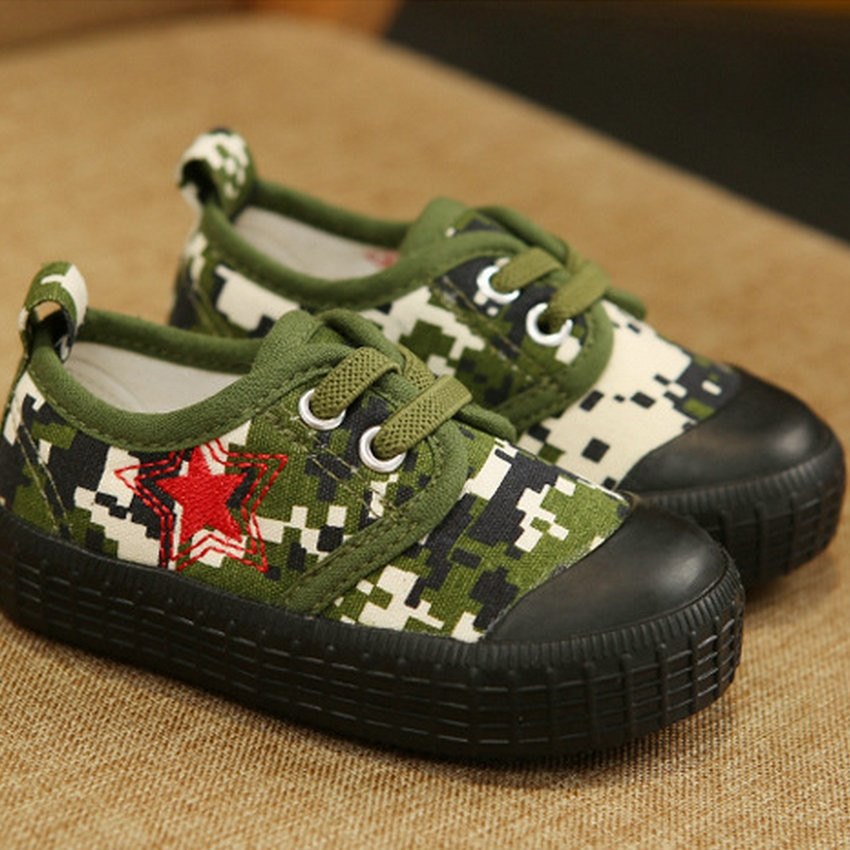 Baby Boy Shoes For 2 Years Camouflage Frenulum Children's Canvas  Baby Shoes 2019 New Style