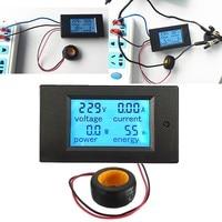 AC Voltage Meters 100A/80~260V Power Energy Voltmeter Ammeter Watt Current Amps Volt Meter LCD Panel Monitor