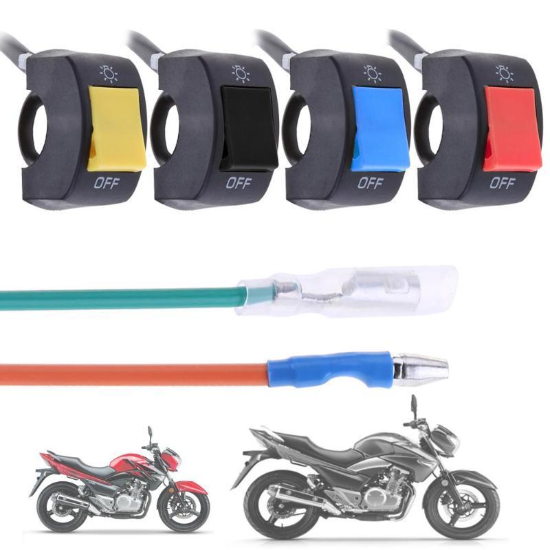 1 шт. 12 в 7/8 дюймов руль мотоцикла переключатель ВКЛ./ВЫКЛ. Для светодиодных фар противотуманная фара для глаз автомобильный Стайлинг переключатель универсальный
