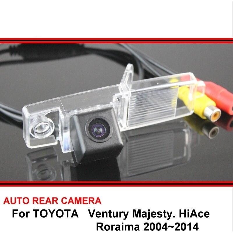 Para a TOYOTA HiAce Ventury Roraima 2004 ~ 2014 SONY HD CCD Retrovisor Do Carro de Backup Reversa Estacionamento Câmera de Visão Traseira Noite visão