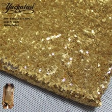 YACKALASI cekinowa koronka tkaniny Allover haftowane wykrawanie 3mm rozmiar cekiny obrus 300 G/M 132cm