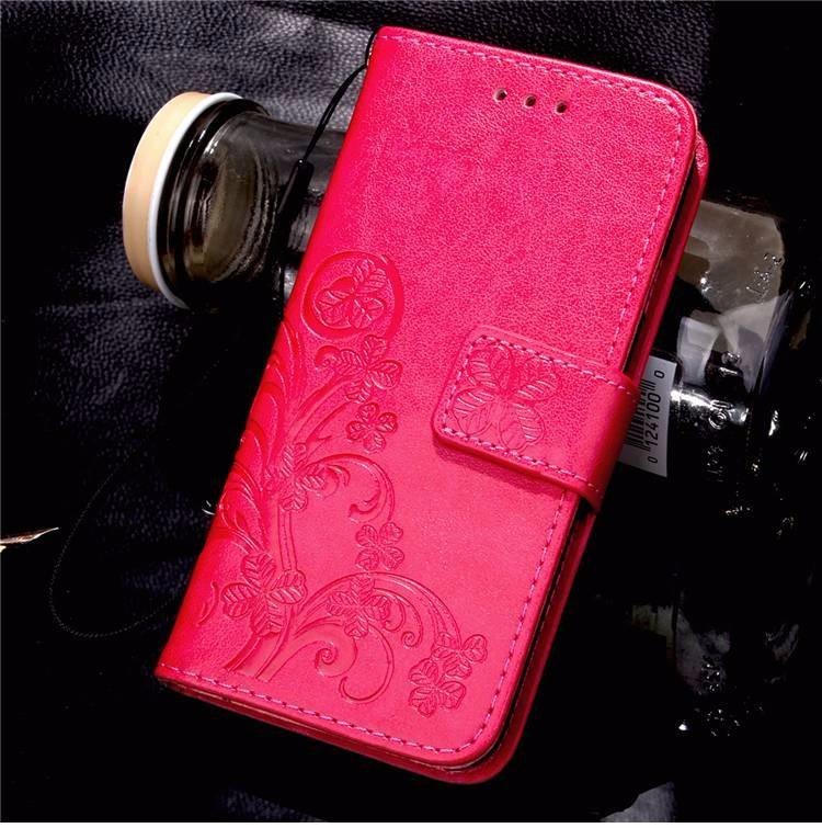 Cztery Liść Koniczyny Skrzynka dla Huawei P9 Okładka Huawei P9 Lite odwróć Wallet Case dla Huawei Hoesjes P9 Plus Telefon Coque PU skóra 10