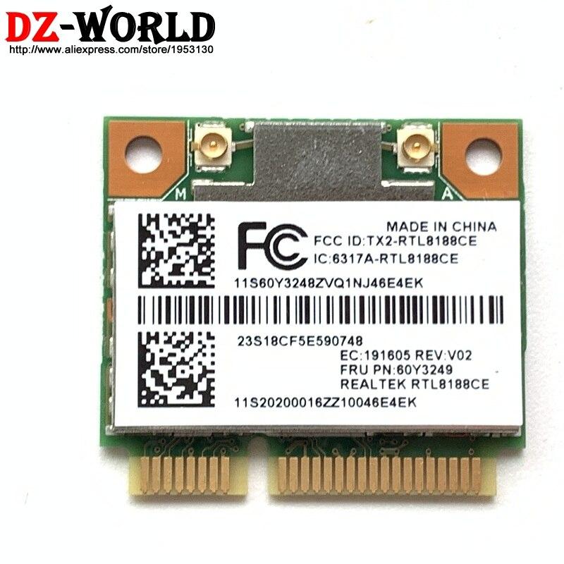 Tarjeta inalámbrica 60Y3249 RTL8188 WLAN WIFI b/g/n para Lenovo ThinkPad T420 T420S T430U X220 T430 X230 e430 E530 X140e E130 X131e