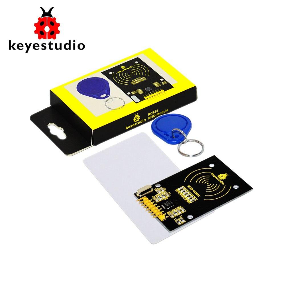 Free shipping!Keyestudio MFRC522 (Orginal Chip) Kit RFID Module+ IC Card + Key Rings  for Arduino UNO R3 MEGA 2560