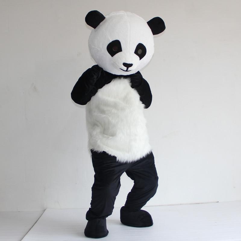 الصينية العملاقة الباندا التميمة زي الجملة النسخة الجديدة عيد الميلاد تأثيري التميمة زي تأثيري موضوع Mascotte كرنفال اللباس