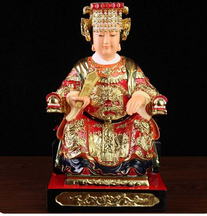 high-grade Home Hall  Talisman Mascot Goddess of SEA Matsu MAZU Guanyin Buddha gilding Sculpture statue 28cm