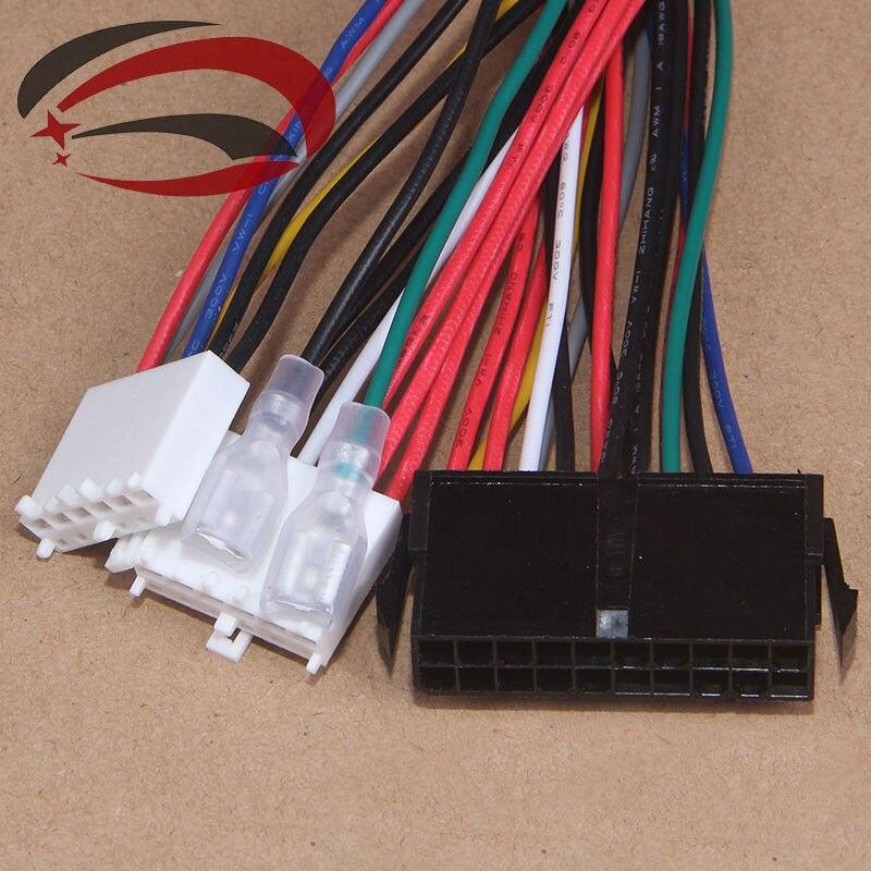 DYKB 20Pin ATX à 2 ports 6Pin à PSU convertisseur câble dalimentation cordon 20cm pour 286 386 486 586 vieil ordinateur