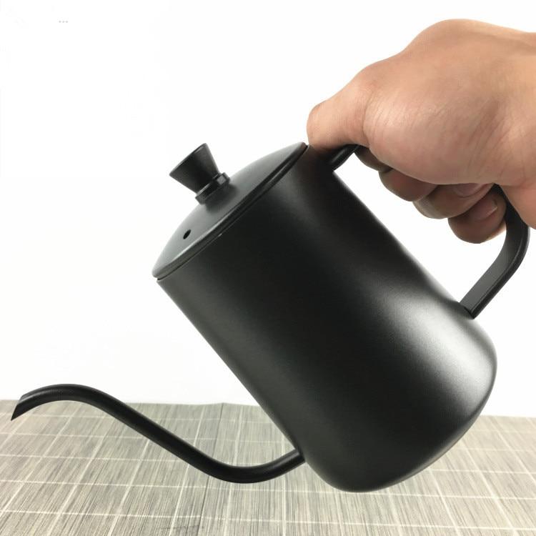 1 cafetera de acero inoxidable de boca larga, lavable a mano, máquinas de Espresso, Jarras, Hervidor de Gas, Termo Hervidor, jarra de leche PH 007