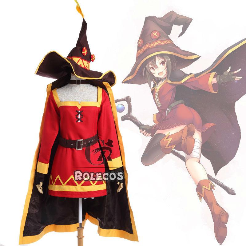 Anime KonoSuba la bendición de Dios en este mundo maravilloso Cosplay megumin traje conjunto completo