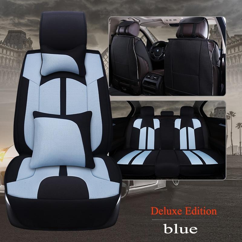 Cubierta universal de asiento de coche de lino para Isuzu todos los modelos D-MAX mu-x 5 asientos accesorios de coche