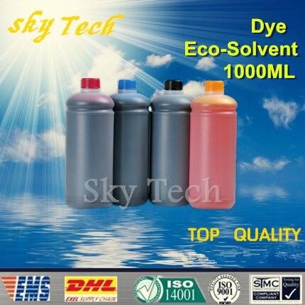 1000ML * 4 tinta Eco solvente para impresora Epson Flatbed, K C M Y, 4 colores, para madera, metal, cerámica PVC, etc.
