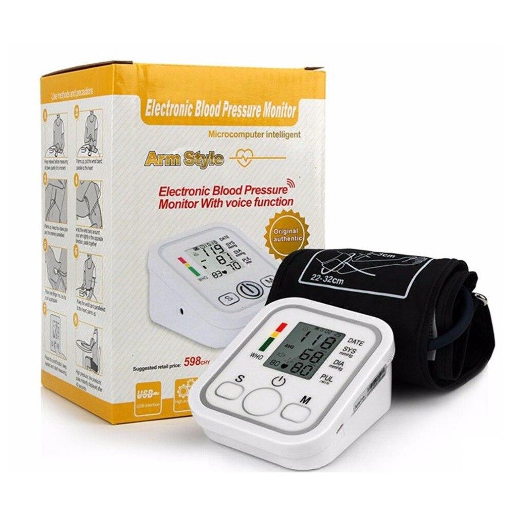 Digital Arm Blood Pulse Pressure Monitor Electric Voice Tonometer Meter Health Care 99 Memory Sets Household Sphygmomanometer