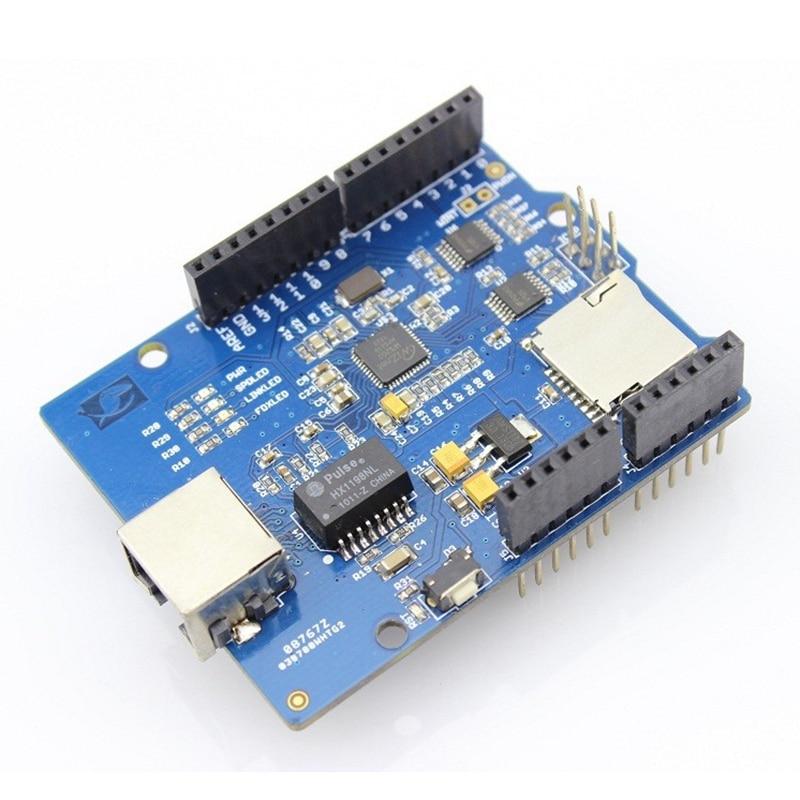 Elecrow Ethernet Shield W5200 para Arduino UNO R3 Mega 2560 R3 Internet inteligente hogar Kit de bricolaje