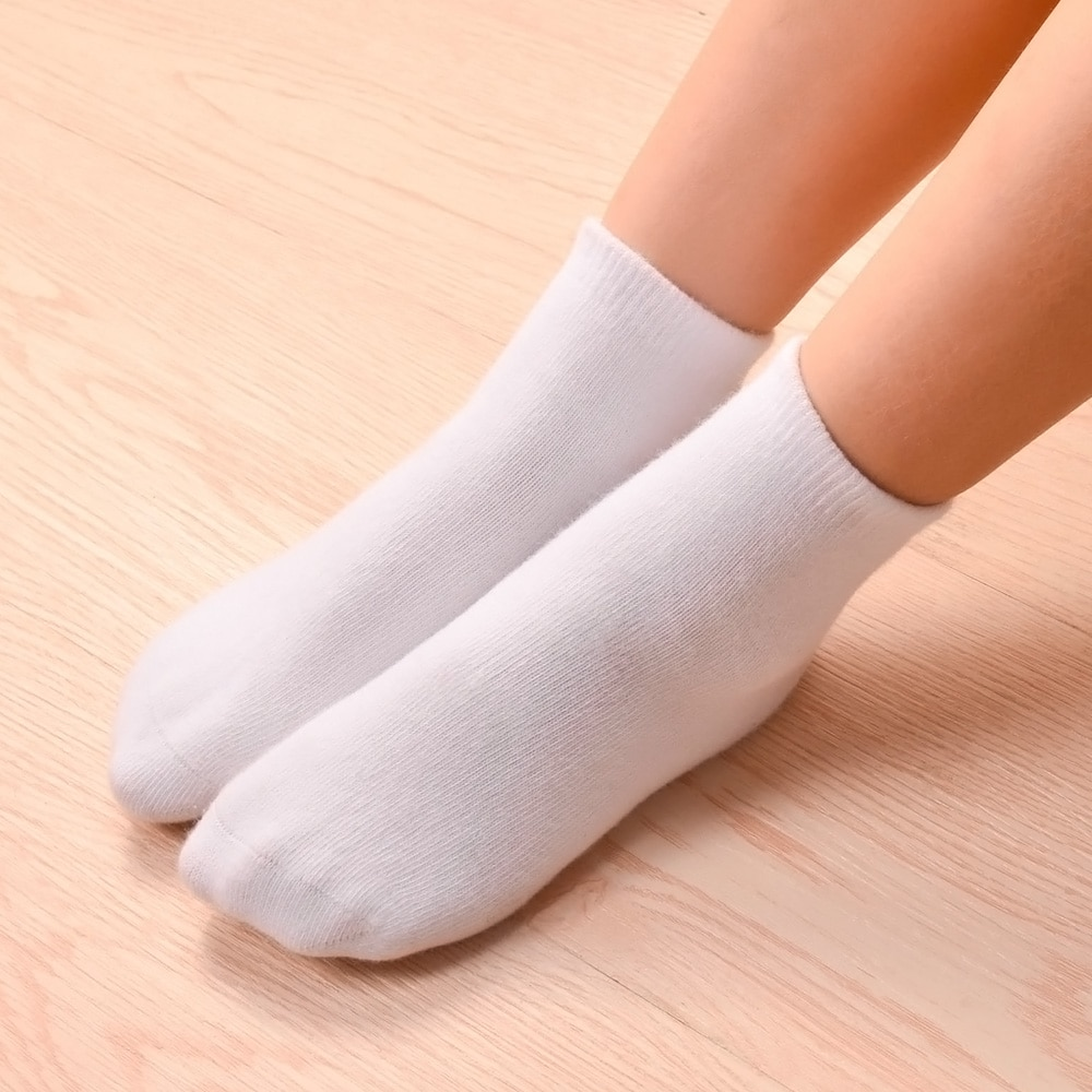 AliExpress - 6pairs/lot Children Boys girls Cotton Above ankle Sport Socks soft sweat plain stitch Athletic Socks Spring Autumn Winter White