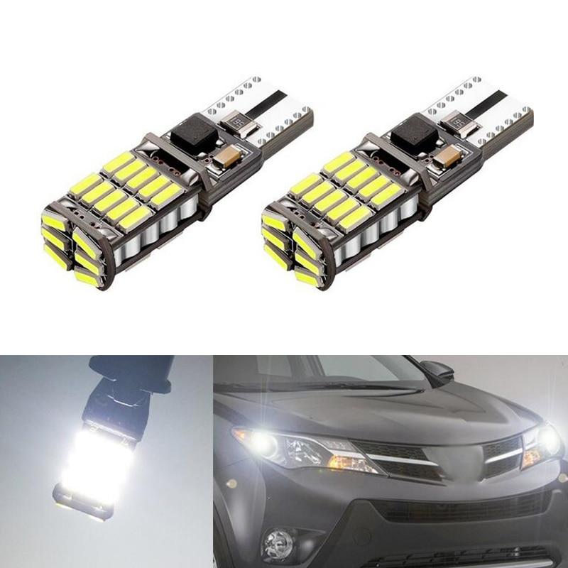 2x T10 Samsung Car LED Wedge Light For Toyota Corolla Avensis Yaris Rav4 Hilux Prius Camry 40 Celica Supra Prado Verso